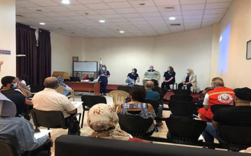 ورشة عمل في مستشفى صيدا الحكومي حول دور الجمعيات في مواجهة كورونا