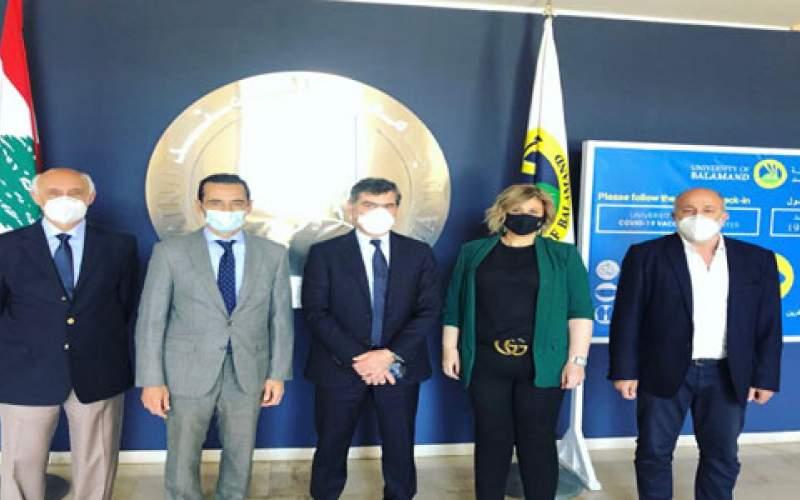 وفد اتحاد المستشفيات العربية رشح جامعة البلمند لشهادة المبادرة الذهبية الممنوحة لمؤسسات تكافح كورونا