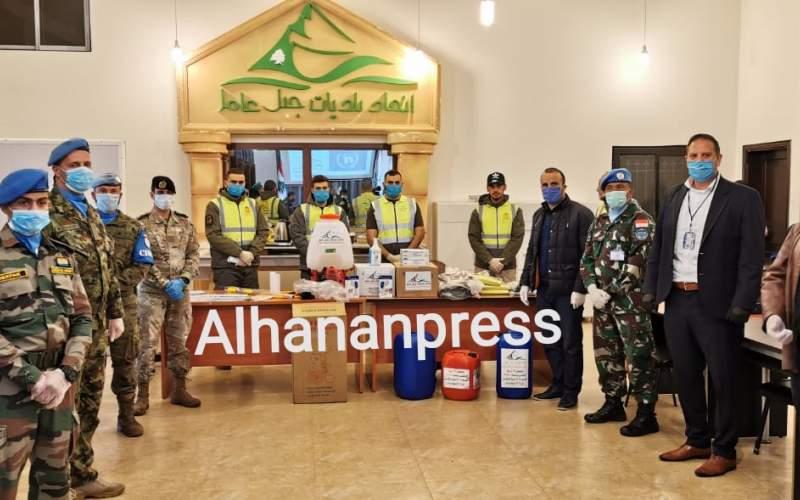 اتحاد بلديات جبل عامل تسلم هبة من اليونيفيل عبارة عن مستلزمات لمواجهة تفشي وباء كورونا