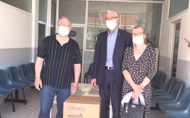 آلة تنفس اصطناعي من الروتاري الى مركز الشديد في بزبينا