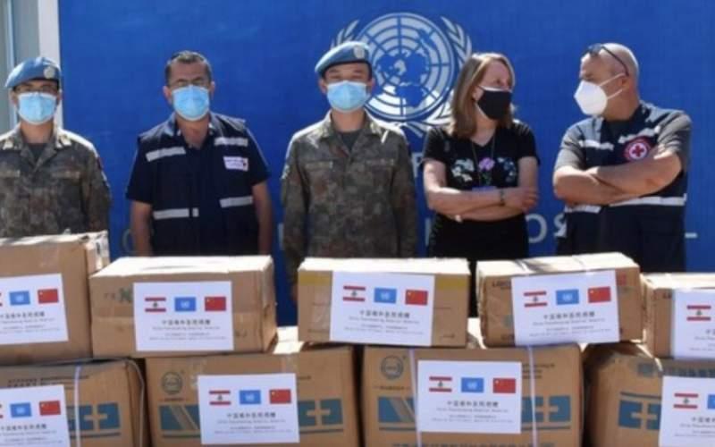 الصليب الأحمر في حاصبيا تسلم مساعدات طبية من الكتيبة الصينية لمواجهة كورونا