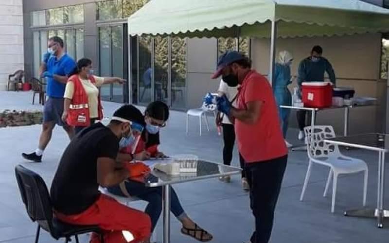 حملة فحوص PCR لمخالطين لحالات ايجابية في مغدوشة